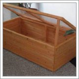 Cold frame with wooden sides