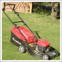 petrol lawn mower grass box