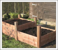 Tall raised beds are easy to access